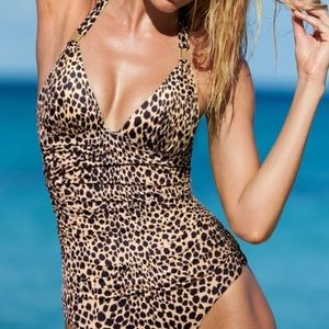 Victoria's Secret Ruched Cheetah Print One Piece
